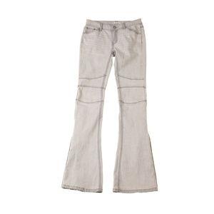 Free People Grey Button-Leg Boot Cut Jeans W24